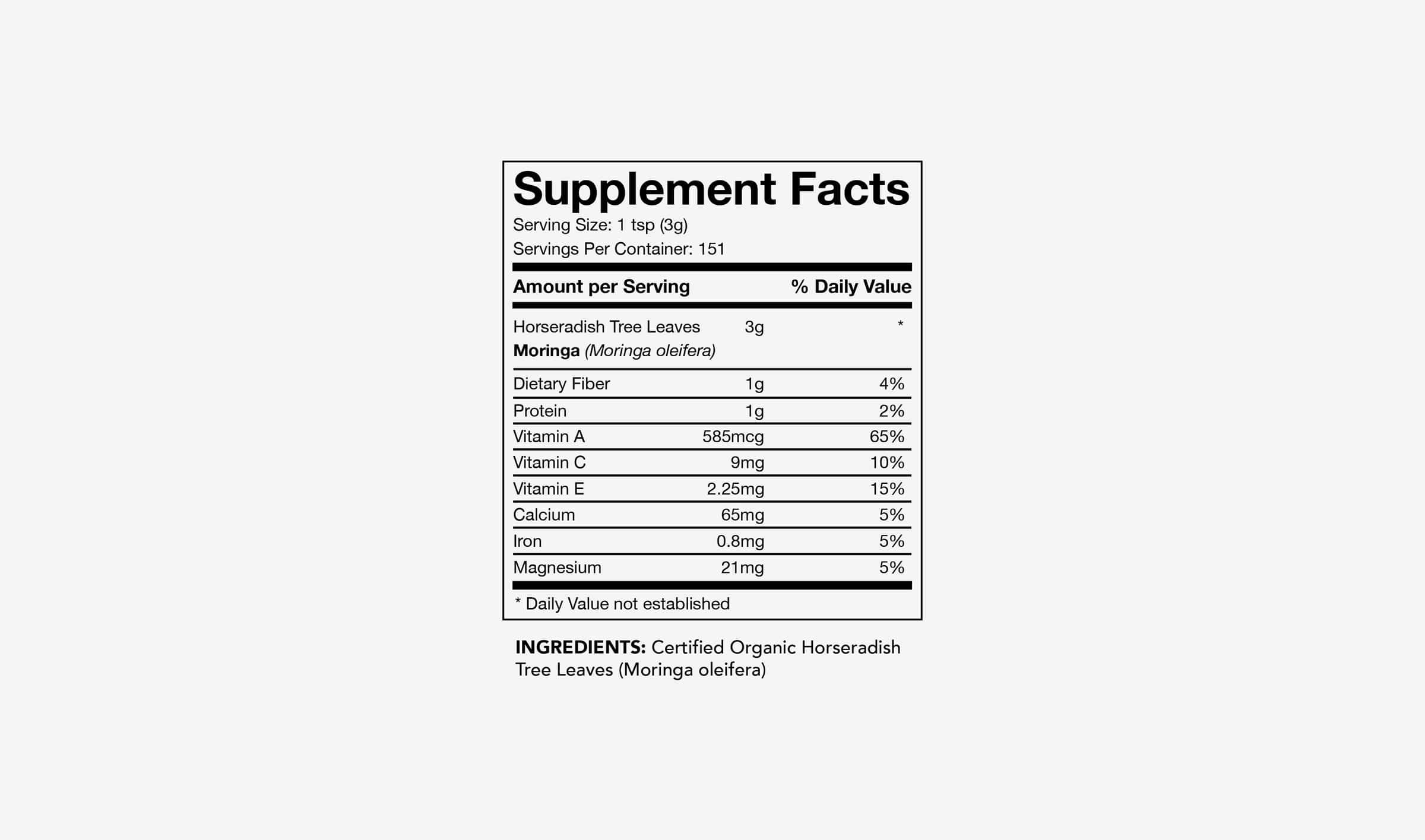 Moringa-Powder-Supplement-Facts